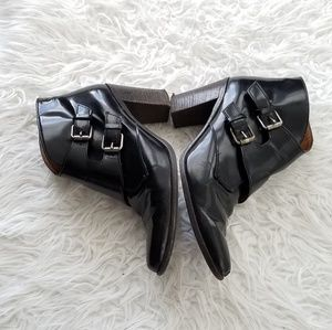 Madewell patent leather boots